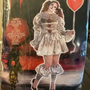 IT pennywise adult costume plus XXL